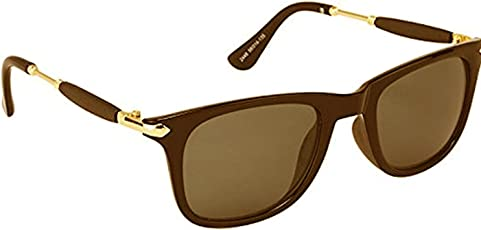 YOUNKY UV Protected Wayfarer Mercury Unisex Sunglasses and 1 Sunglass Case (Brown-Stick-18|55|Brown)