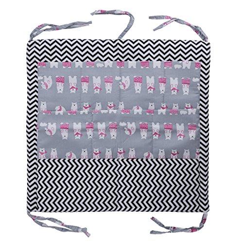 Bambino sacchetto tasca portaoggetti per neonato borsa a mano sacchetto organizer per lettino storage bags borsa bambino tavolo comodino cesto di archiviazione in cotone a strato