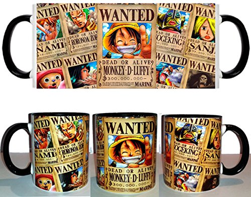 Taza One Piece Wanted