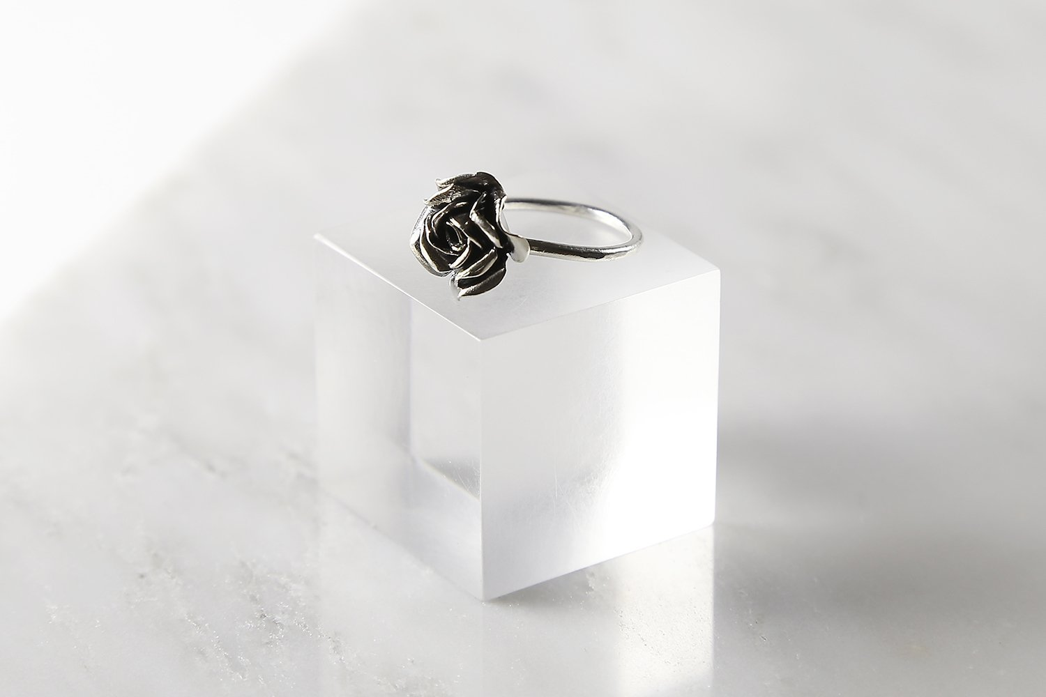 Ring Blooming Rose Sterling Silver Nature Bohemian