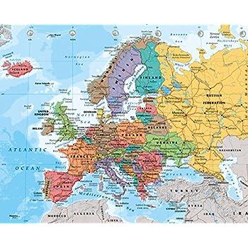 Cartina Europa Con Nomi.Gb Poster Cartina Dell Europa 2014 Mini Poster 40 X 50 Cm