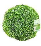 Künstliche Buchsbaum Kugel wetter- und uv-fest XL 30 cm Durchmesser - Premium Qualität - Buchsbaumkugel künstlich im XL Format - wind- und wetterfest sowie uv-beständig