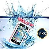 [IPX8 Certificado] iVoler Funda Bolsa Móvil Impermeable Universal 6 Pulgadas para iPhone 7, 7 Plus,6 / 6s Plus, SE 5S 5C, Samsung Galaxy S8/S8+/S7/S7 Edge/S6/S6 Edge/Edge+, Huawei P10/P10 Lite/P9/P9 lite/P8 Lite, BQ Aquaris, LG, Sony, Motorola, Monedas, Pasaporte, etc. (Rosa)