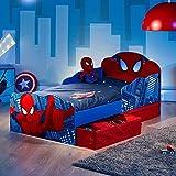 Spiderman Kleinkind Bett mit Lagerung Plus Schaumstoff-Matratze