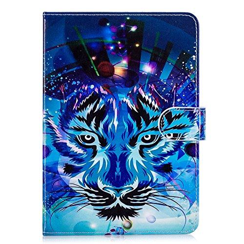 """Jian ying Protector cover per Samsung Galaxy Tab A6 10.1"""" SM-T580 T585 custodia, slim in pelle PU supporto pieghevole tablet cover custodia con funzione Sleep/Wake (lupo)"""