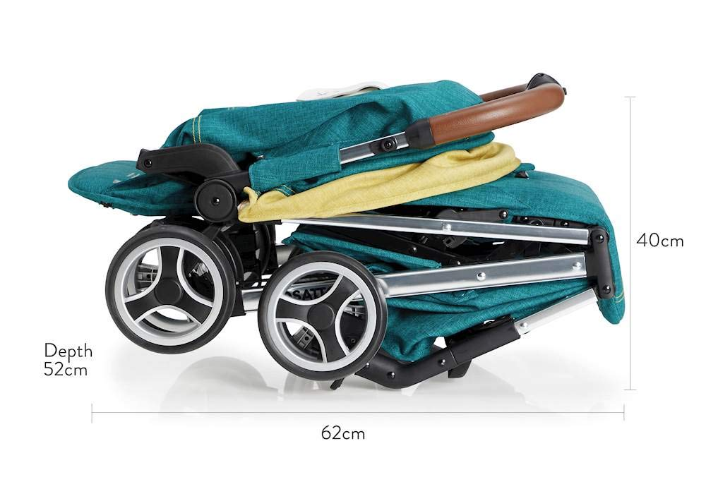 Cosatto Woosh XL Pushchair, Suitable from Birth to 25 kg, Hop to It Cosatto Compact from-birth pushchair. carries up to 25kg child, so you can use it for longer. Hands full? it's lightweight with one-hand fold into compact bundle. easy to store. It can even carry dock 0+ car seat (sold sep) just pop onto the adaptors (sold sep). 5