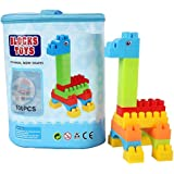 Adichai Building Blocks for Kids with Wheel, 100 Pcs Blue Poach Bag Packing, Best Gift Toy, Block Game for Kids,Boys…