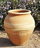 hochwertige Terracotta Amphore, 50 cm, handgerfertig und frostfest, für den Garten Außenbereich mediterrane Deko, Punica