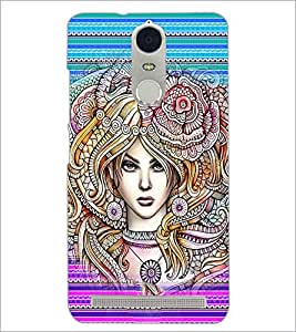 PrintDhaba Fantasy Girl D-6005 Back Case Cover for LENOVO K5 NOTE (Multi-Coloured)