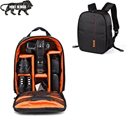SMILEDRIVE Waterproof DSLR Backpack Camera Bag, Lens Accessories Carry Case for Nikon, Canon, Olympus, Pentax & Others-Made in India