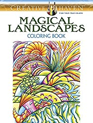 Magical Landscapes Adult Coloring Book