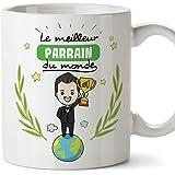 Mugffins Parrain Mug/Tasse - Meilleur Parrain du Monde - Tasse Originale/Cadeau Anniversaire/Fête des Pâques/Future Parrain.