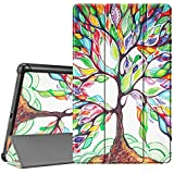 FINTIE SlimShell Case for Samsung Galaxy Tab A 10.1 2019 Model SM-T510/SM-T515, Super Thin Lightweight Stand Cover for Samsung Galaxy Tab A 10.1 Inch Tablet 2019 Release, Love Tree