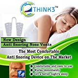 #7: THINK3 BRAND Latest High Quality Snore Stopper,Anti-Snoring Nose Vent-Simple Natural 1 PIECE