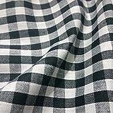 Schwarz & Weiß Gingham Stoff Polyester und Baumwolle