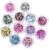zerozero 12colores brillante uñas arte diseño Sparkle Glitter Lentejuelas manicura decoración