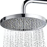 XYQ - Bathroom Rainfall Shower Head Top Spray Extra Large 8Inch Bathroom Showerhead Stainless Steel Polished Chrome Round shower head sprinkler head self-cleaning water hole function shower head
