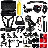 Soft Digits 48 en 1 Accesorio para GoPro Hero 5 4 3+ 3 2 1 Xiaomi Yi SJ4000 SJ5000 SJ6000 QUMOX Campark Lightdow VicTsing Apeman WiMiUS, Accesorios de la Cámara de Acción para el Paracaidismo Natación Remo Surf Esquí Escalada Correr Montar en Bicicleta que Acampa de Buceo
