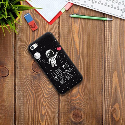 iPhone SE iPhone 5 5S Hülle, WoowCase Handyhülle Silikon für [ iPhone SE iPhone 5 5S ] Fußball, der den Wand bricht Handytasche Handy Cover Case Schutzhülle Flexible TPU - Schwarz Housse Gel iPhone SE iPhone 5 5S Schwarze D0216