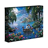 Thomas Kinkade Disney The Little Mermaid II 20,3 x 25,4 cm Galerie verpackt Leinwand