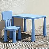 So senden Hocker Brisk- Kindergarten Kinder Tische und Stühle Einstellen Plastiktisch Stuhl Baby-Lerntisch Spieltisch Für Kinder Schreibtisch Kann Heben (Farbe : Blue-d)