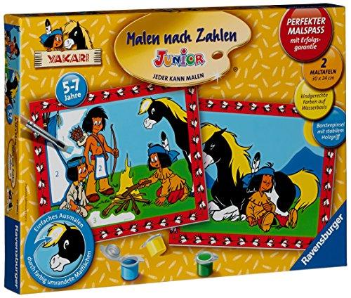 Ravensburger 27760 - Yakari und seine Freunde - Malen nach Zahlen Junior, 30 x 24 cm (2 Motive)
