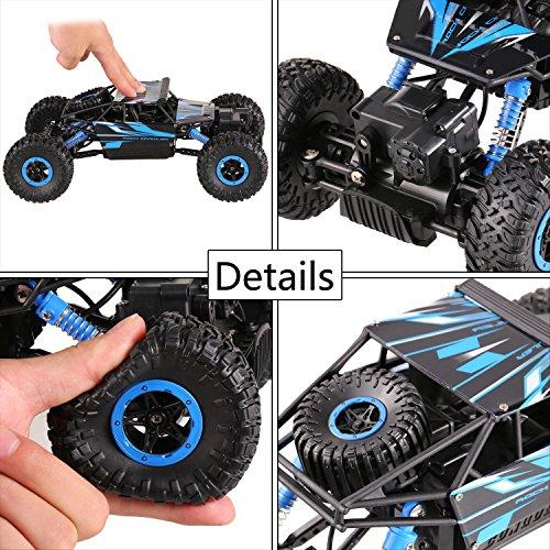 RC Auto kaufen Crawler Bild 2: H&B HB HB-P1802 Ferngesteuertes 4WD Rock Crawler RC Car Geländewagen Auto 1:18 Fernbedienung Monster Truck/Off Road Fahrzeug (Blau)*