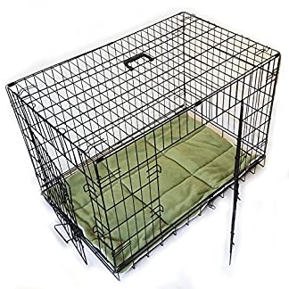 Foldable Dog Crate, Large, Dog Bed, 91 x 57 x 25 cm Colour Black Pet Carrier Transport Cage Wire Cage Dog Crate Cage 61BJrBcQ8cL