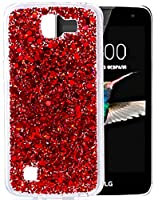 """LG K4 Coque, LG K4 Housse, Coque LG K4, Nnopbeclik® Soft/Doux Silicone Transparente """"paillette brillant"""" Backcover Housse """"K120E"""" (4.5 Pouces) Antiglisse Anti-Scratch Etui"""