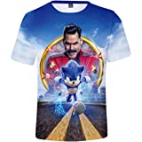Silver Basic Camiseta Deportiva para Niños 3D Inspirada en la Popular Película y Videojuego Sonic The Hedgehog Summer T-Shirt