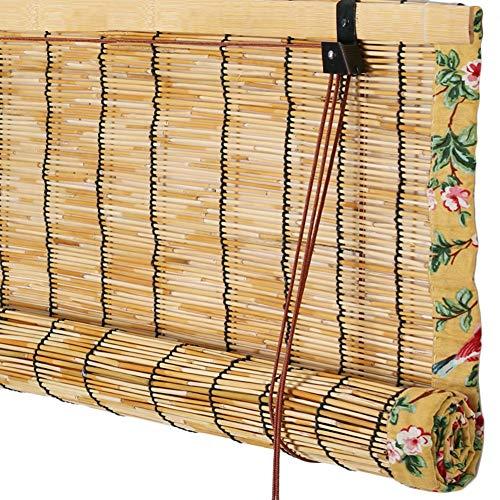 WUFENG Reed Vorhang Retro Rollo Staubdicht Anti-UV Bambusvorhang, 3 Stile Mehrere Größen Anpassbar Türvorhang (Farbe : C, größe : 100x200cm)