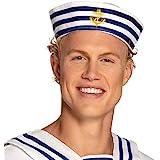 Boland-28411 Otro Sombrero marinero azul marino, multicolor, Unitalla (Ciao Srl 28411)