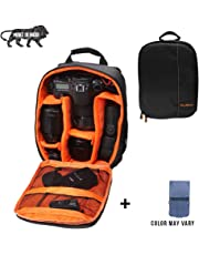 Brain Freezer J Universal DSLR SLR Camera Lens Shoulder Backpack Case for Canon Nikon Sigma Olympus Camera Orange