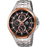 Casio Edifice Men's Black Dial Stainless Steel Band Watch - EF326D-1AVUDF