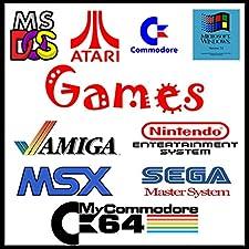 InsideMix ⭐ 800 Spiele Vintage-Spiele Retrogames 80/90 Jahre Arbeiten unter Windows und MAC auf PEN USB 3.0 Keine Needs Emulator Spiele Amiga Commodore PC Atari Sega Nintendo - Kinderspiele (Pen Usb 64GB)