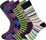 Mysocks® 5 paires de chaussettes homme conçues, rayées, Gr. 40-45