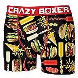 Crazy Boxer 20 Top Design's Herren Boxershort/Retroshort Fun-Edition, Mega-Designs (L/6/50, Junk Food 2)