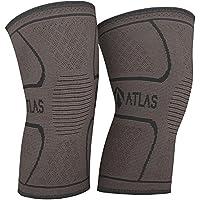 Kniebandage für Sport, Gelenkschmerzen und Arthrose - Atlas Kompressionsbandage - Ideal für Laufen, Bodybuilding und die alltägliche Nutzung - Bequem, Atmungsaktiv, Strapazierfähig - für Herren und Damen - 1 Paar