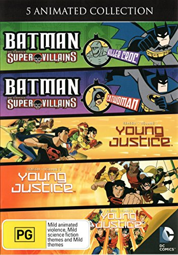 n - batman,killer croc,young justice, (5 DVD) ()