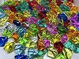 CRYSTAL KING 140 Stück 500g große Bunte Deko EIS Diamanten 32mm Brillianten Strasssteine Acrylsteine basteln Dekosteine Gltzersteine Strass Steine zum Verzieren Dekorieren - 4