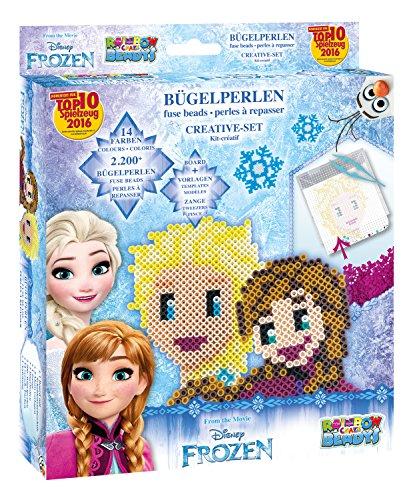 Craze 54353 - Rainbow Beadys Bügelperlen Kreativ Set Disney Frozen inklusiv Zubehör 2200 Perlen, blau