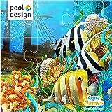 Poolspiel * Aqua Games * Tauchspiel * Unterwasser * Puzzle * Zebrafisch * 30 x 30 cm