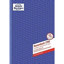 AVERY Zweckform 1756 Kassenbuch (A4, nach Steuerschiene 300, 2x40 Blatt) weiß/gelb