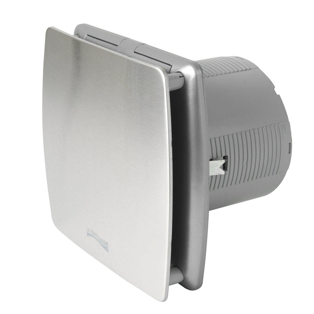 La Ventilazione AA12IN Aspiratore Elicoidale Estetico Grigio, per Foro diametro 120 mm / 5