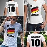 Germany | Deutschland | Männer oder Frauen Trikot T - Shirt mit Wunsch Nummer + Wunsch Name | WM 2018 T-Shirt