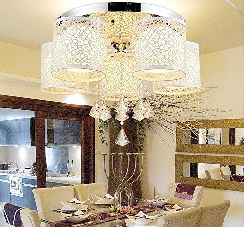 moderne kreative rundschreiben led deckenleuchte licht kristall lampe schlafzimmer wohnzimmer lampe warm farbwechsel restaurants 5 head crystal - Led Beleuchtung Wohnzimmer Farbwechsel