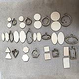 WRMHOM DIY Mini Stickrahmen Rahmen–Miniatur Stickrahmen–DIY Tiny Creolen Kit–Mini Creolen Rahmen–DIY Halskette Tiny
