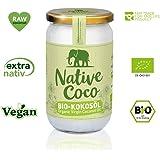 Bio Kokosöl extra nativ 1000ml - vegan, Fair Trade | Kokosnuss-Öl kaltgepresst | ohne Zusatzstoffe | Kokosfett zum Kochen, Braten, Backen, für Haare, Körper-Pflege und Haut von Native Coco