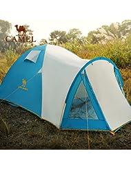 engranaje al aire libre Camel tienda de campaña al aire libre de 3-4 personas tienda de campaña al aire libre a prueba de lluvia doble