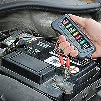 CLKJCAR Comprobador de batería de 12 V 6 luces LED, probador de alternador digital, comprobador de múltiples funciones para coche y motocicleta alternador